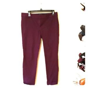 Banana republic sloan fit purple slacks